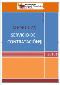 MEMORIA 2013